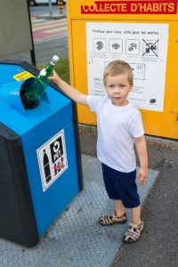 borne de recyclage